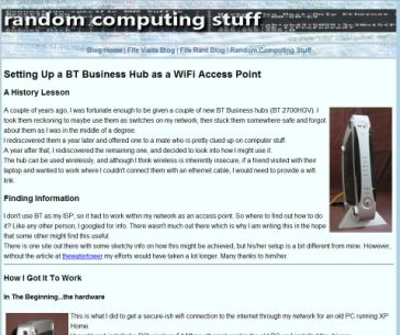 screen shot of Random Computing page